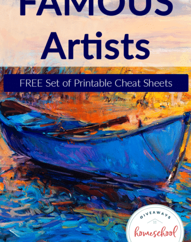 Famous-Artists-Cheat-Sheets