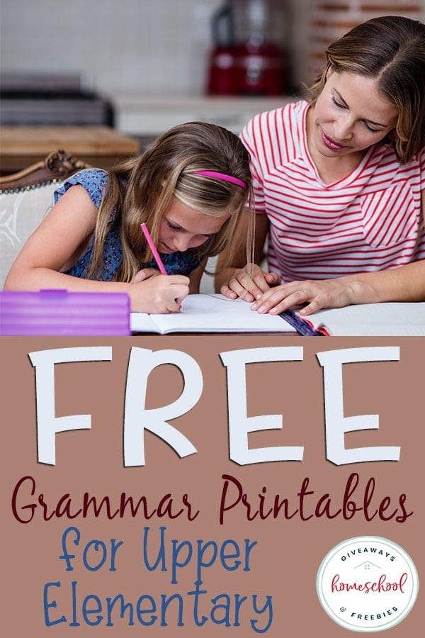 Are you looking for some help with grammar? Check out these FREE Grammar Printables for your Upper Elementary aged children! #upperelementary #freegrammarprintables