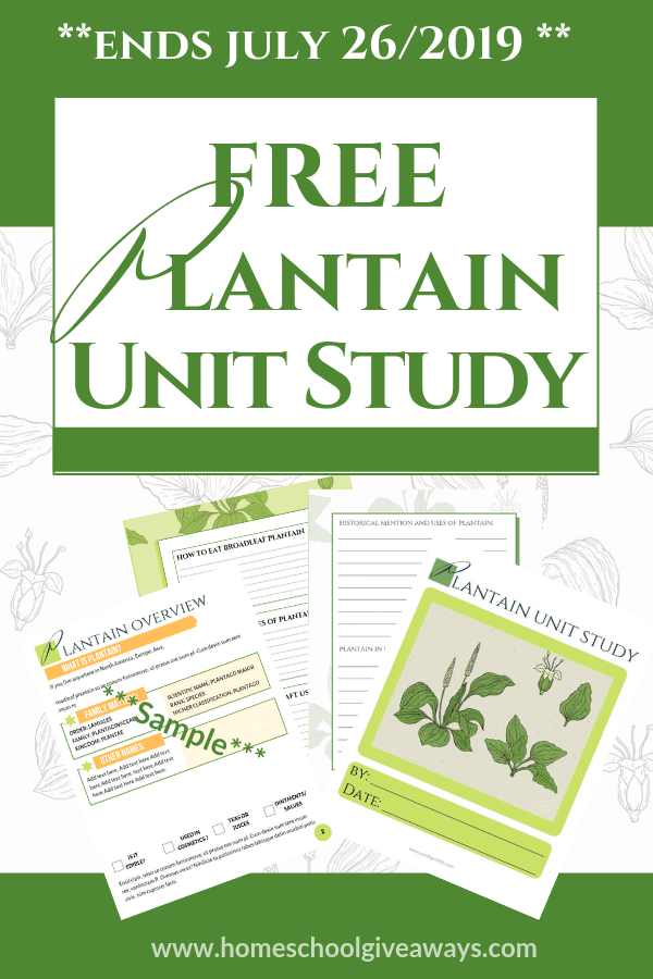 Plantain Unit Study - Free for a Limited Time