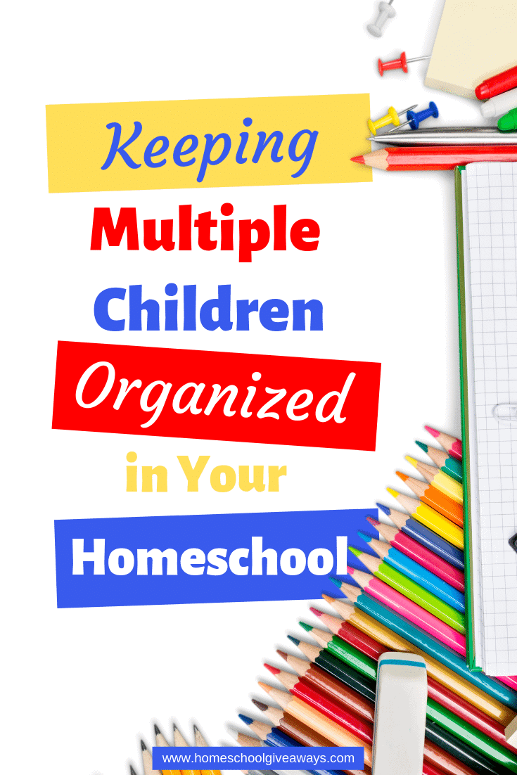 Establish a simple system to keep each child's supplies and books organized this school year. #homeschoolmom #homeschool #homeschoolorganization #homeschooltips