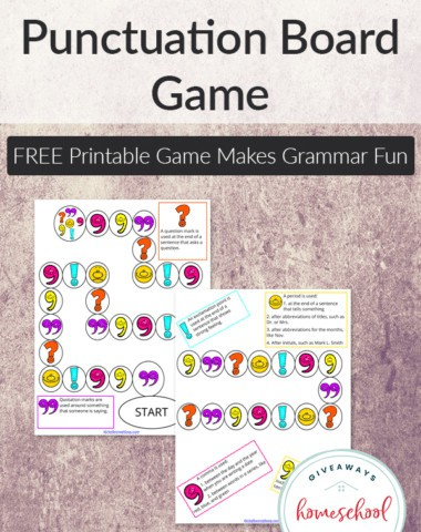 Pick the Punctuation Board Game2
