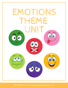 Teach your child about their emotions and how to control them with this fun preschool theme unit about emotions. #parenting #homeschoolpreschool #emotions #preschoolthemeunit