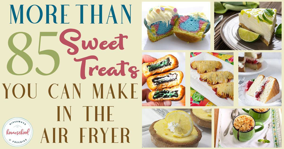 Have you ever wanted a delicious dessert without all the work? Or without heating up the kitchen on an already hot day? Check out these sweet treats that can be made in an air fryer! #recipes #desserts #airfryer #hsgiveaways