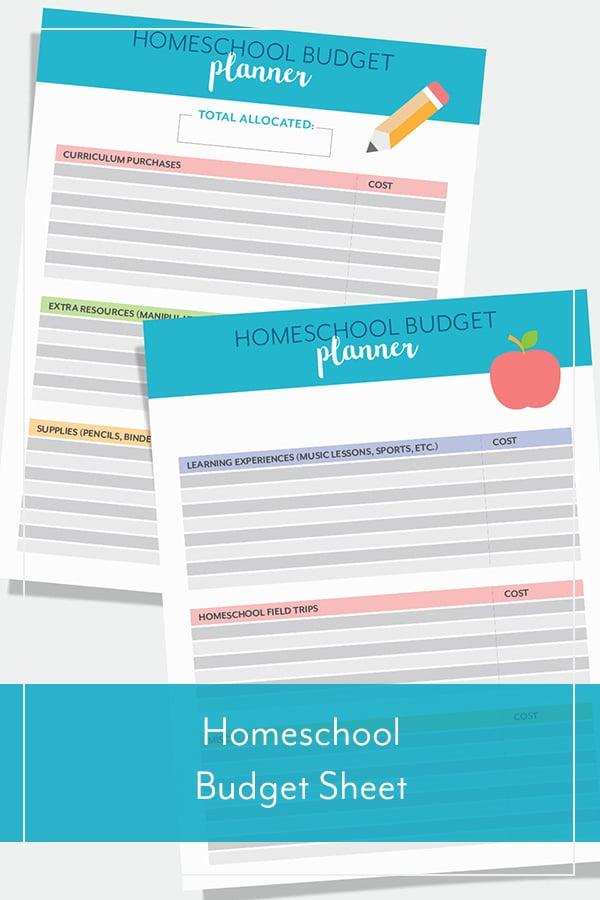 Homeschool Budget Sheet