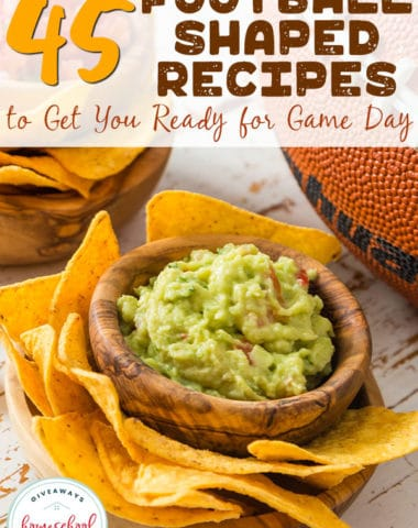 Who's ready for some football? Food...that is. This weekend kicks off the football season and we've got you covered with some great football shaped recipes! We've got appetizers, sandwiches, snacks and sweet treats to help you get through the big game! #football #gameday #recipes #hsgiveaways