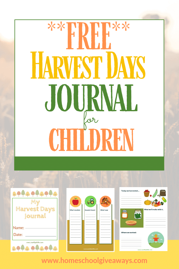 Fun Harvest Activities and Free Harvest Journal