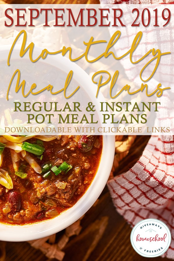 September is here and we've got you covered with some amazing recipes for every meal all organized into downloadable formats! You can choose from a regular meal plan with grilling, slow cooker recipes and salads to fill the month OR a completely Instant Pot meal plan with a new and tasty recipe every day! #recipes #mealplan #mealplanning #hsgiveaways