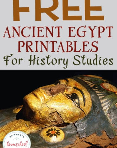 If you are learning about Ancient Egypt in your homeschool you will love these FREE Ancient Egypt Printables #historystudies #ancientegypt