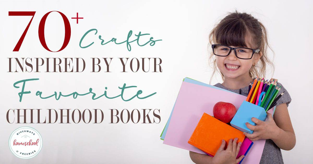 Do your kids love reading? Do they enjoy creating and making crafts too? Now you can combine the two with these fun and creative crafts inspired by many of their favorite books! #crafts #reading #homeschoolers #hsgiveaways
