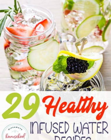 Whether you're looking to kick the pop habit, get healthier or you just want to mix it up with your water intake, these recipes are sure to quench your thirst. Check them out and get started mixing your own infused water recipes today! #water #gethealthy #recipes #hsgiveaways