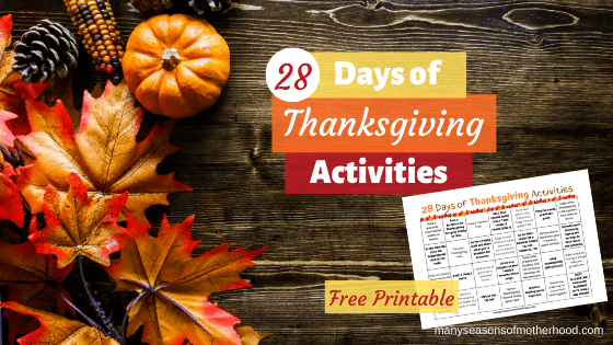 28 Days of Thanksgiving Activities