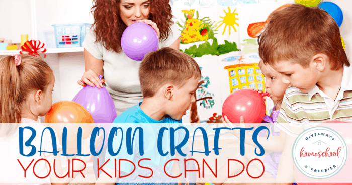 Who knew there were so many different creations you could make with balloons. We've gathered some fun kid-friendly balloon crafts that your kids can make. Check them out! #balloons #crafts #homeschoolers #hsgiveaways