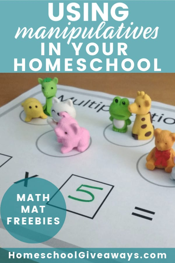 Using manipulatives in your homeschool doesn't have to be complicated or expensive. It's an easy way to captivate your visual and kinesthetic learners while also engaging your kids in the learning process. Be sure to grab the FREE math mats in this post.