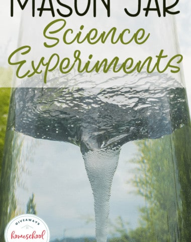 Mason Jar Science Experiments are big in our house. Not only are they simple and easy to put together, they also make cleaning up so much easier. You'll love this list of experiments you can do in mason jars! #hsgiveaways #science #scienceexperiments #homeschooling