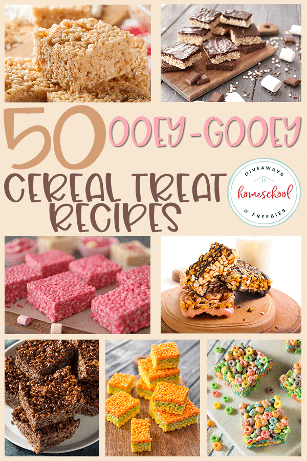 Do your kids like rice cereal treats? There are so many different combinations out there, you could try a new one each week for a year! Check out these recipes! #recipes #ricecerealtreats #ricekrispie #hsgiveaways