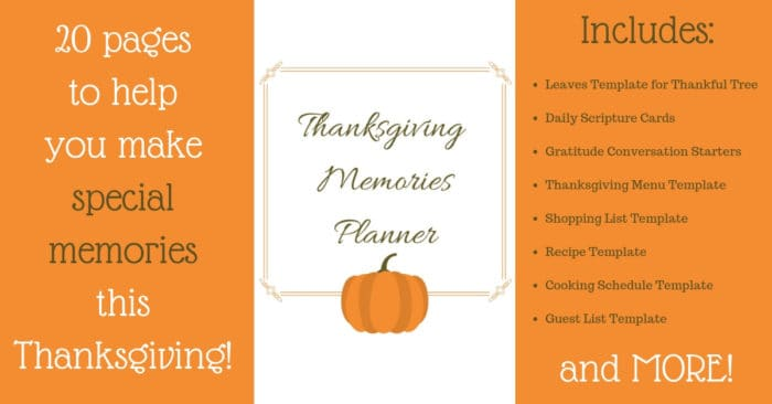 The Thanksgiving Memories Planner helps you plan and be intentional about making awesome Thanksgiving memories.