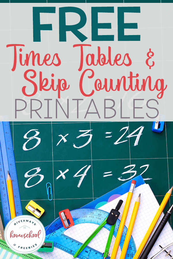 FREE Times Tables Skip Counting and Printables #mathhelps #multiplicationprintables