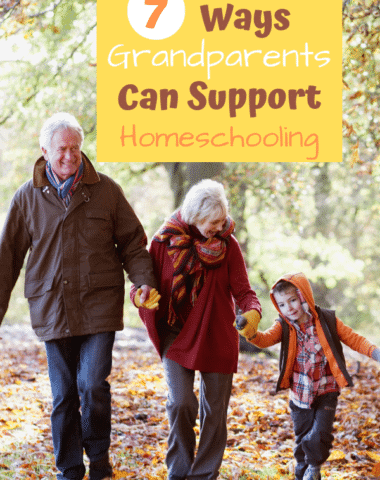 Grandparents can make a big impact on your homeschool. Find out ways you can include them. If your child is a homeschool parent find out ways you can be encouragement to them. #homeschool #grandparent #homeschooltips