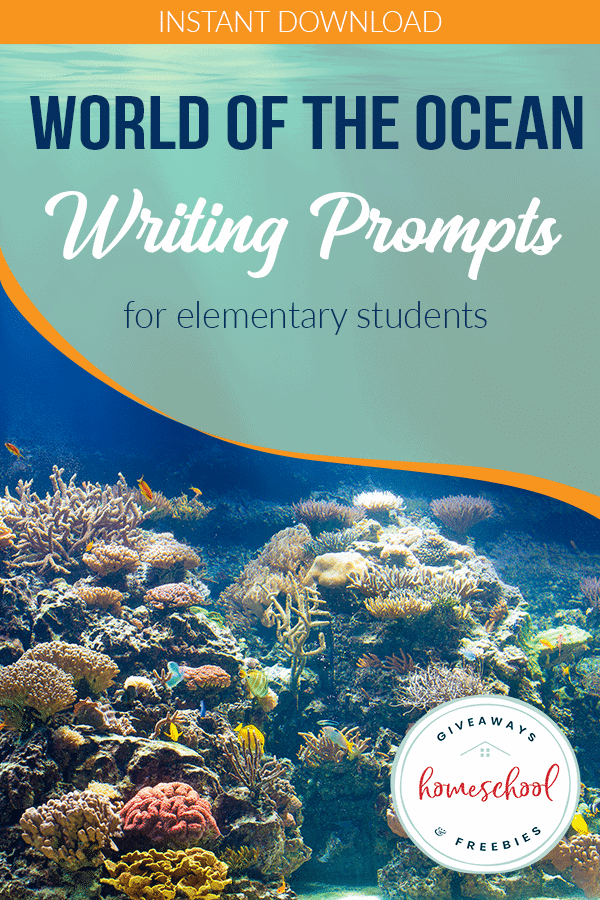 underwater view with overlay - World of the Ocean Writing Prompts