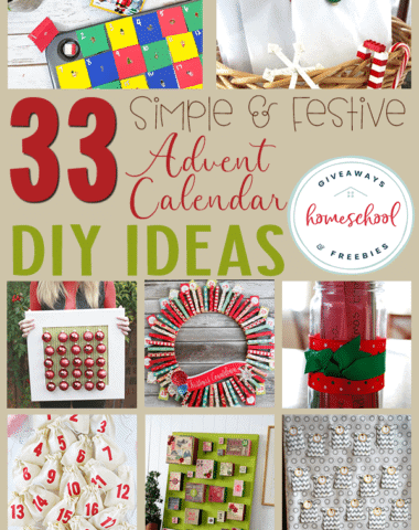 Do your kids love Advent calendars? This year, why not make your own! We've gathered printable options as well as DIY projects the whole family will enjoy. #Advent #Christmas #DIY #hsgiveaways
