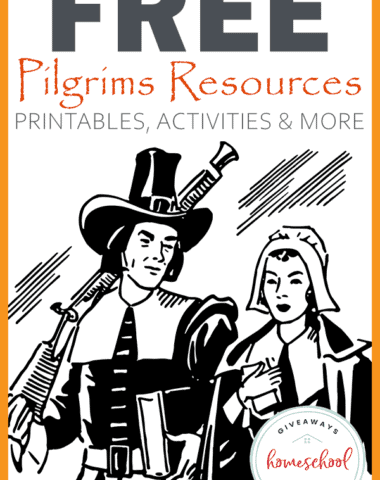 Thanksgiving is just around the corner! Find everything you need to create a simple, yet fun Pilgrim's Unit Study just in time for Thanksgiving. #Pilgrims #Thanksgiving #unitstudy #hsgiveaways