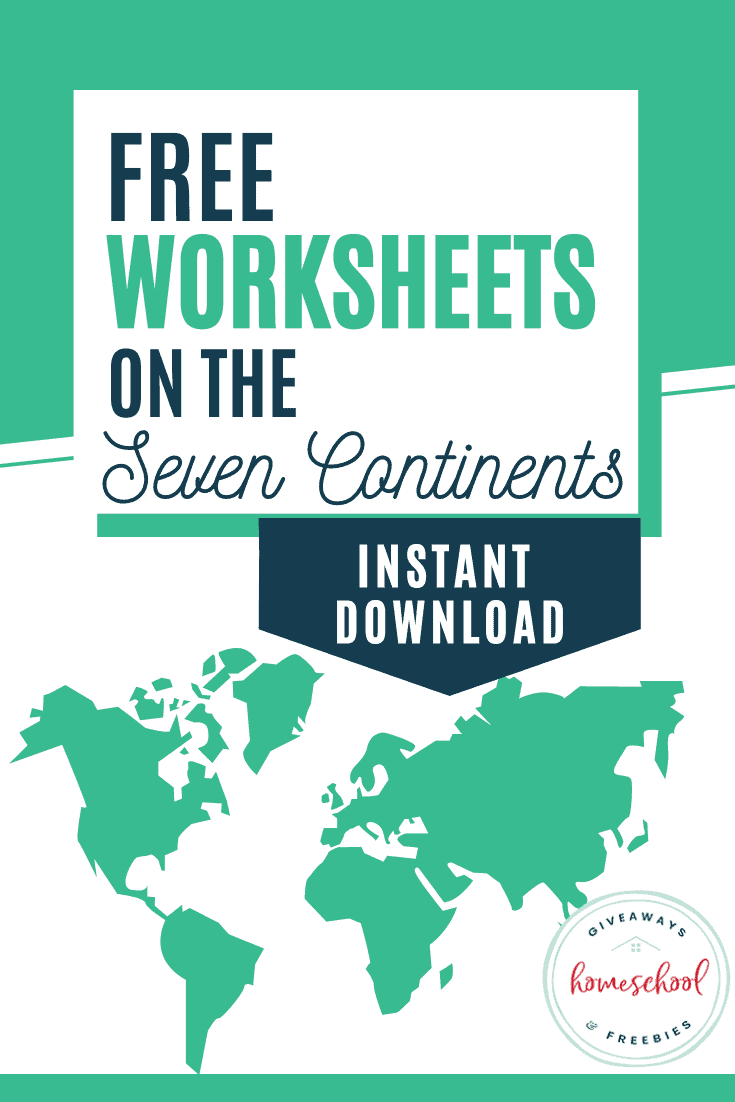 Free Worksheets On The Seven Continents Homeschool Giveaways