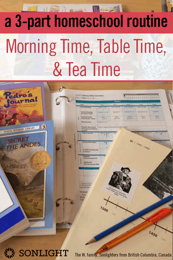 A 3-Part Homeschool Routine: Morning Time, Table Time, & Tea Time