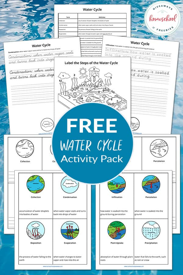 Free Water Cycle Unit With Fact Cards Homeschool Giveaways