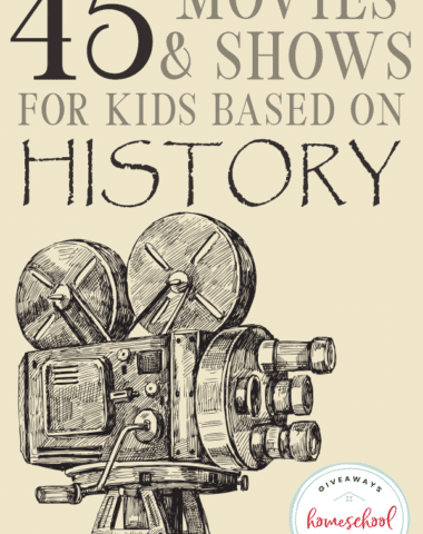 Help bring history to life when you watch movies your kids can relate to as they study. Check out our favorite and recommended history movies to inspire your homeschool. #history #learningthroughmovies #historicalmovies #hsgiveaways