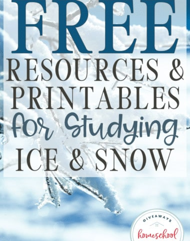 Whether your kids have seen the new Frozen 2 movie or you're waiting for it to come out on disk, they will love learning more about the ice and snow with these FREE printables, science experiments and more! #snowscience #scienceofice #winterstudy #hsgiveaways