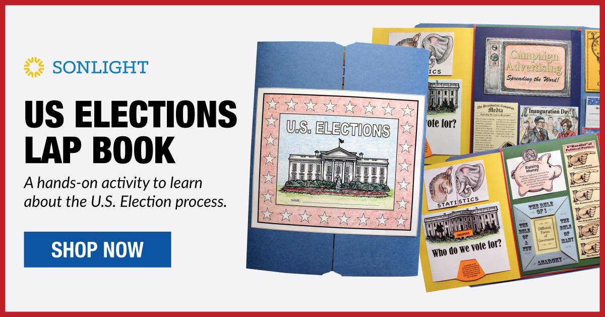 US Elections Lap Book A hands-on activity to learn about the U.S. Election process.