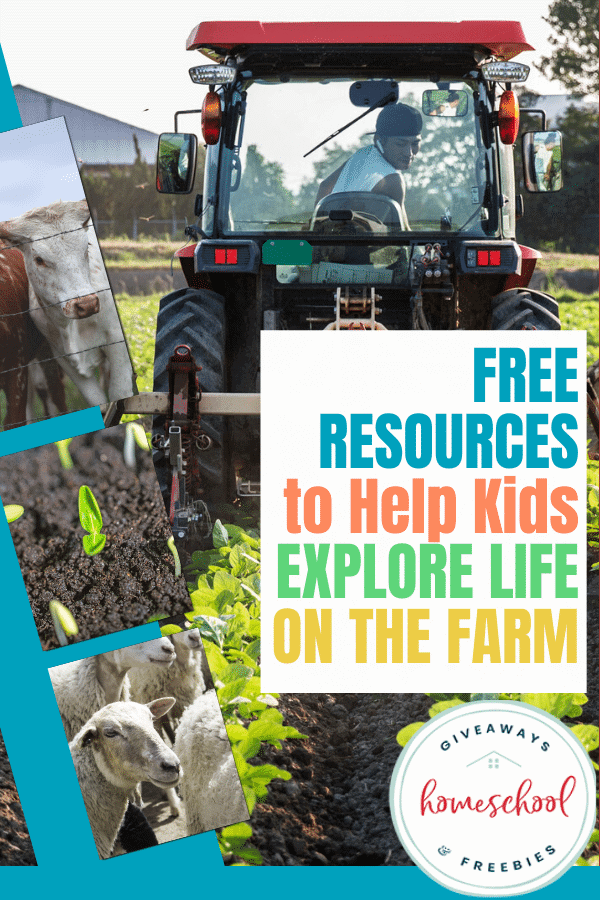 FREE Resources to Help kids Explore Life on the Farm. #homeschool #homesteading #farmunitstudy