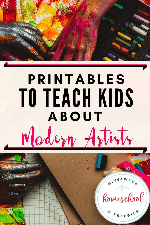 Printables to Teach Kids About Modern Artists.