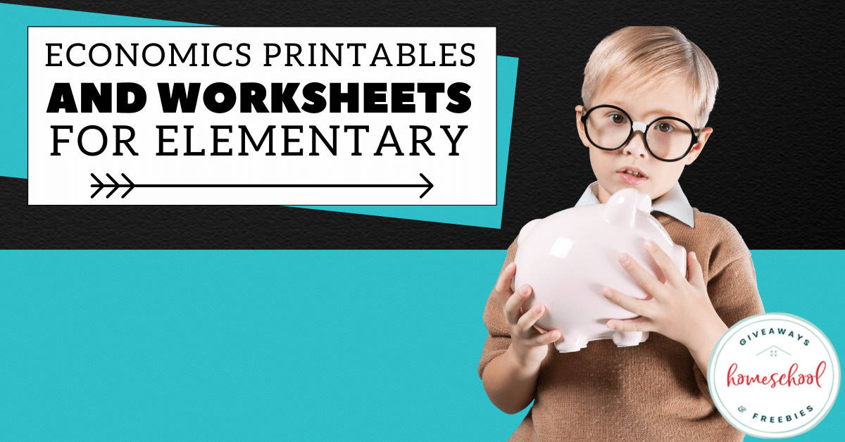 Economics Printables and Worksheets for Elementary. #elementaryeconomics #economicworksheets #economicsprintables