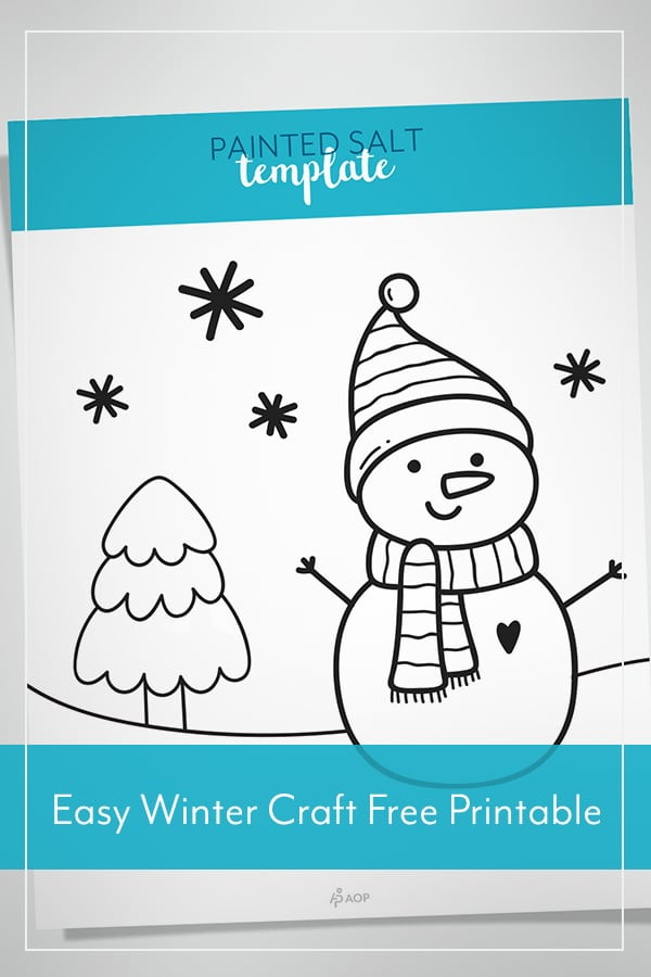 Painted Salt: Easy Winter Craft with Free Printable