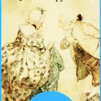 drawing of victorian era couple bowing to each other with text overlay Charles Dickens Quotes & Copy Work. Download Now. www.HomeschoolGiveaways.com
