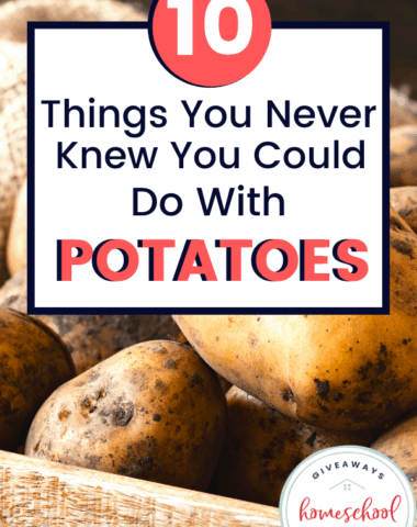 10 Things You Never Knew You Could Do with Potatoes. #thingstodowithpotatoes #thingsyouneverknewtodowithpotatoes #potatoesnotjustforcooking #potatoesforotherstuff