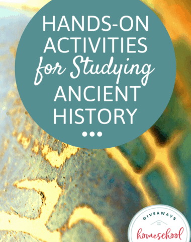 Hands-On Activities for Studying Ancient History. #handsonancienthistory #ancienthistory activities