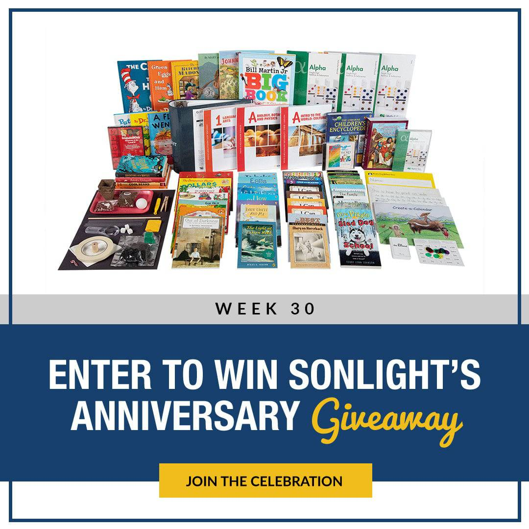 Sonlight Anniversary Giveaways
