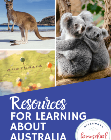 Resources for Learning About Australia. #learningaboutaustralia #australiaresources #printablesaboutaustralia #homeschoolgiveaways