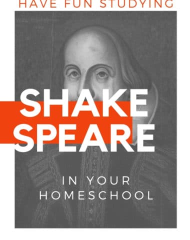 Image of Shakespeare with text overlay. Let's Study Shakespeare: 6 Free Ways To Have Fun With Shakespeare In Your Homeschool