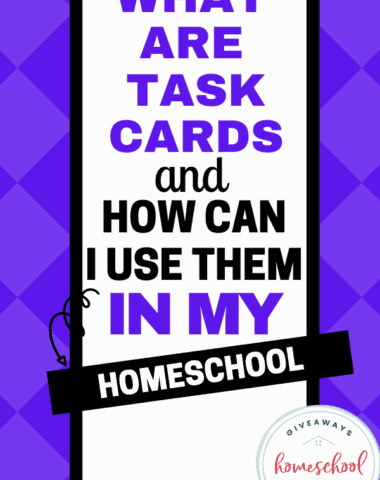 What Are Task Cards and How Can I Use Them in My Homeschool? #whataretaskcards #howtousetaskcards #usingtaskcards #learningwithtaskcards