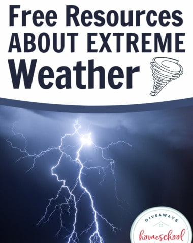 Free Resources About Extreme Weather. #extremeweather #extremeweatherevents #severeweather #weatherresources