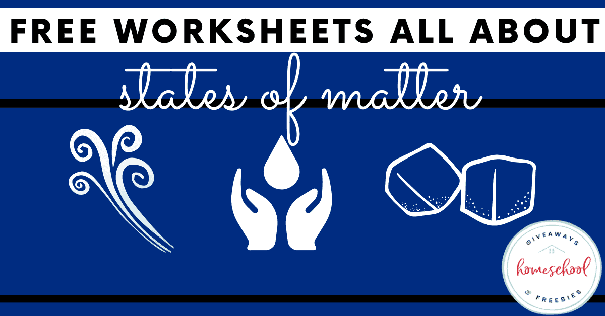 Free Worksheets All About States of Matter. #statesofmatter #allaboutstatesofmatter #scienceexperiments #matterinscience