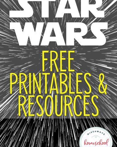 "hyperspeed image with overlay ""Star Wars Free Printables & Resources"""