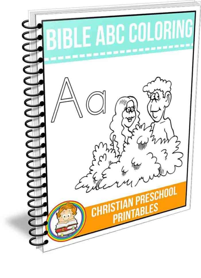 spiral bound cover of Bible ABC Coloring Workbook