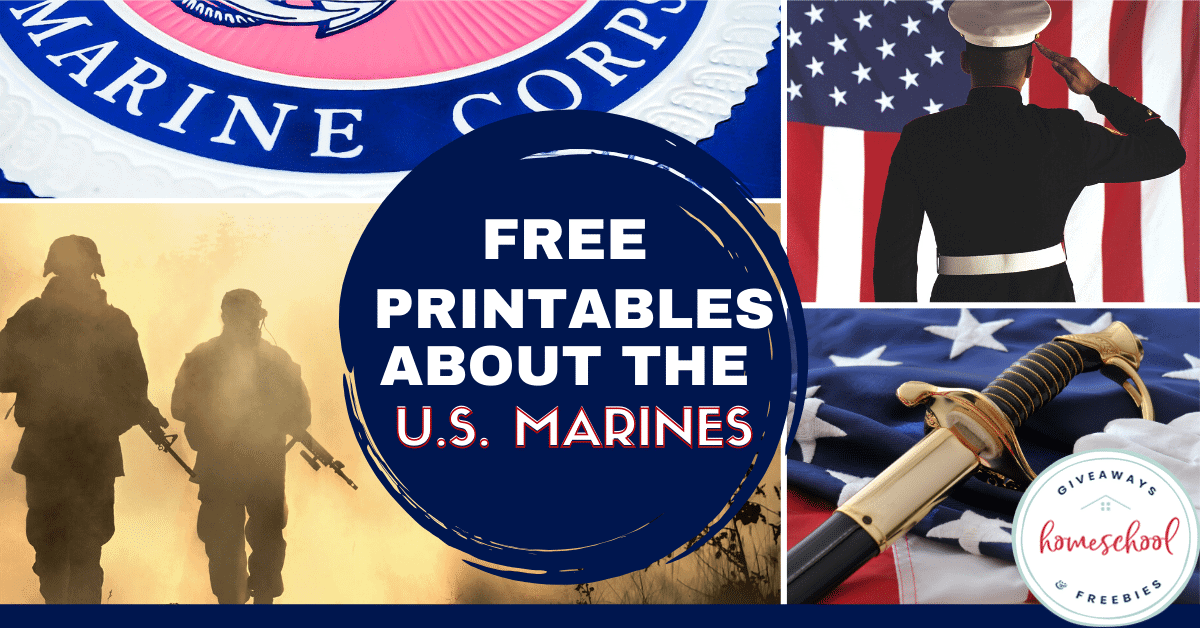 Free Printables About the U.S. Marines. #USMCprintables #UnitedStatesMarineCorps #MarineCorpsprintables #Marinesprintables #allaboutMarines