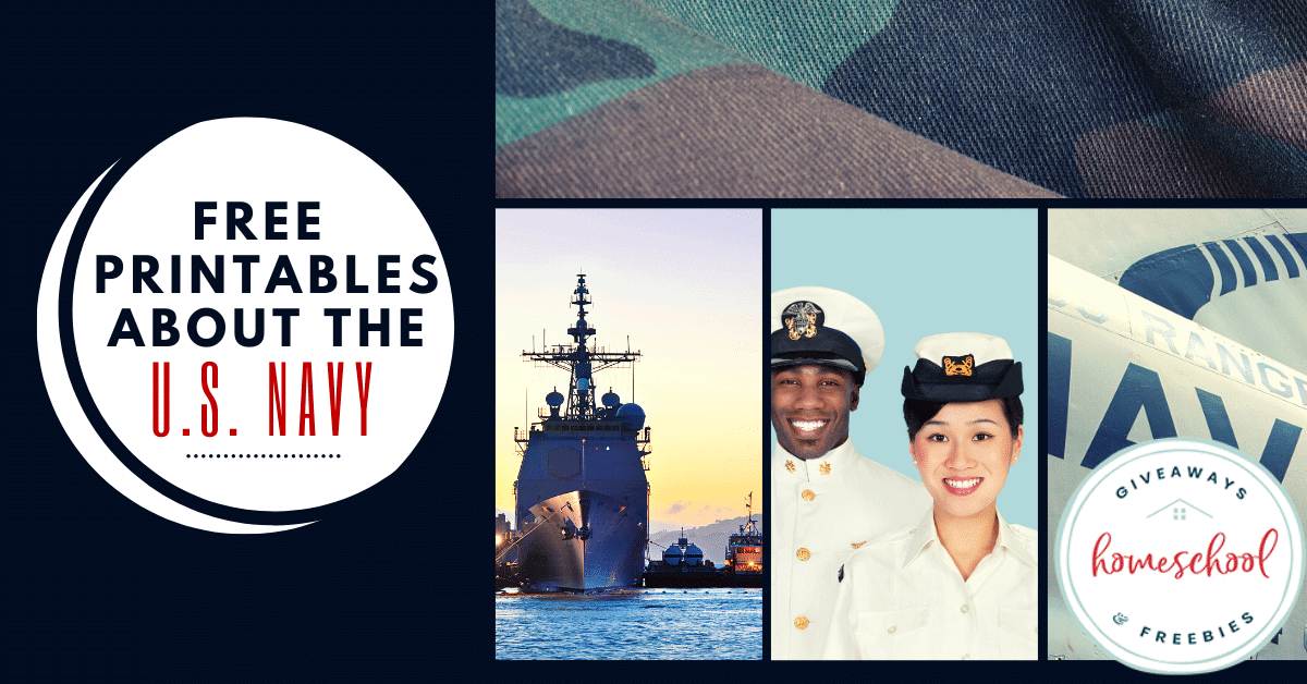 Free Printables About the U.S. Navy. #USNavyprintables #UnitedStatesNavy #Navyprintables