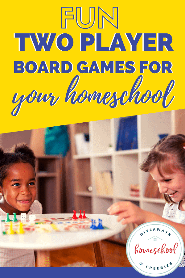 Fun Two-Player Board Games for Your Homeschool. #twoplayerboardgames #2playerboardgames #funboardgames #homeschoolboardgames