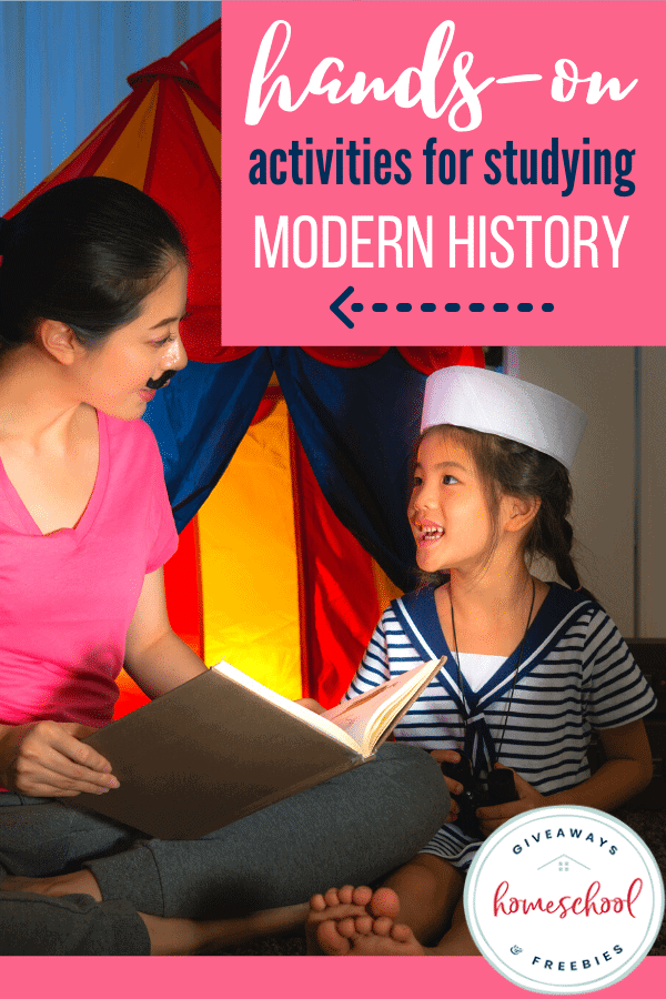 Hands-On Activities for Studying Modern History. #handsonactivities #modernhistoryresources #modernhistoryactivities